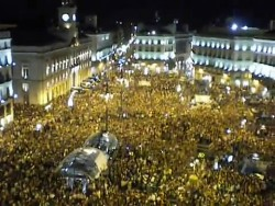 photo of Madrid protesters